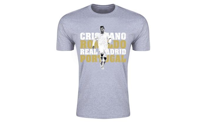 the best attitude fae25 3130a Cristiano Ronaldo Real Madrid T-Shirt (Grey) - Kids