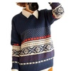 Women Pullover Loose Knit Top Knit Sweater