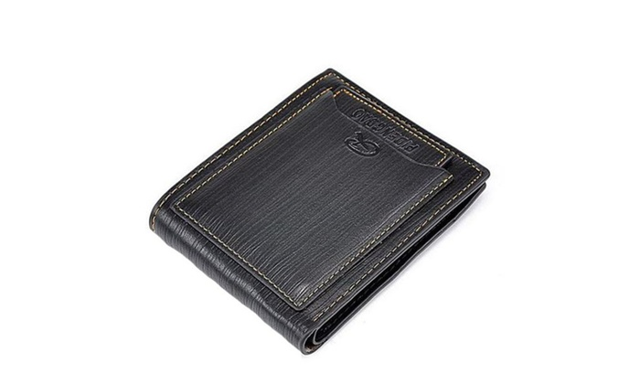 Mens Bifold PU Leather Cash Card Wallets