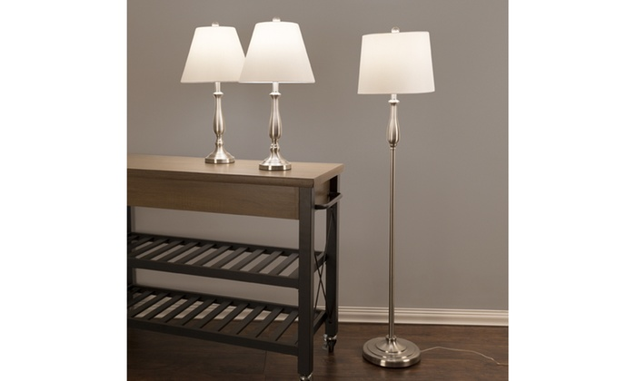 Up To 23 Off On Table And Floor Lamp Set 3 Pc Groupon Goods