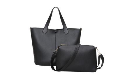 2 Pcs/Set Designer Leather Tote Casual Shoulder Hand Bag for Women 86e92c4f-3db8-4fe2-af3c-099169cf13bd