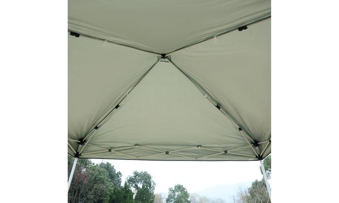 GOPLUS 10'X10' EZ POP UP Tent Gazebo Wedding Party Canopy Shelter Carry Bag New