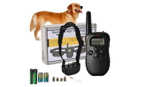 LCD Remote Electric Shock Vibrate Pet Dog Training Collar a61c4c8c-7fbc-4a95-b52f-ec4fddeb23be