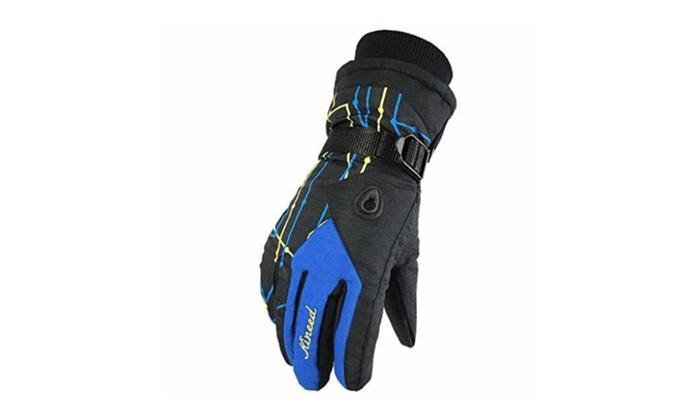 Women's Outdoor Warm Gloves Full Finger Waterproof Athletic Gloves - 04-Blue / free size