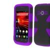 Insten Black Purple Hybrid Rugged Dynamic Case For Zte Concord 2 Z730