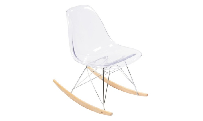 Eames Rocking Chair : Clear acrylic eames rocking chair replica groupon