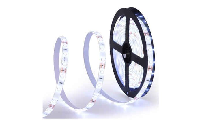164ft waterproof flexible led strip lights whiteled tape12v groupon 164ft waterproof flexible led strip lights whiteled tape12v aloadofball Images