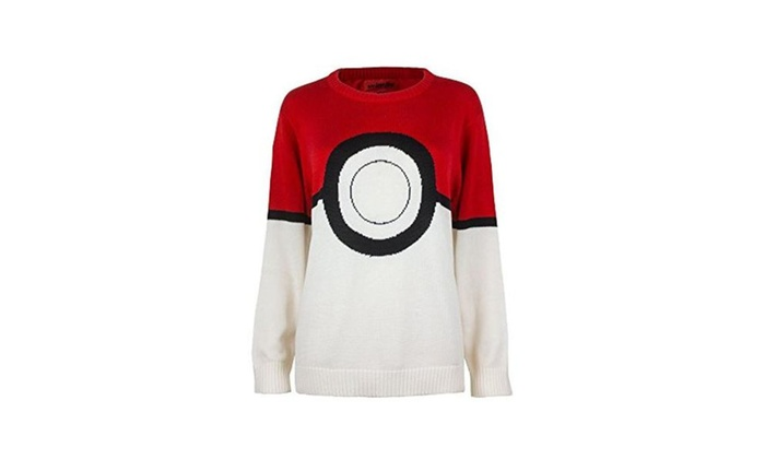Pokemon I Am Pokeball Knit Pullover Sweatshirt