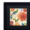 Lisa Audit 'Rainbow Garden II - Cream' Matted Black Framed Art