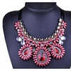 Ethnic Crystal Statement Beads Collar Necklace for Women