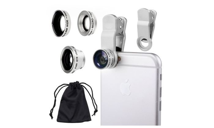 3 in 1 Wide Angle Macro Fisheye Lens Universal for Mobile Phones