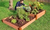 Classic Sienna Raised Garden Bed Terraced, 4 ft. x 8 ft. x 11 in (1 in. profile)