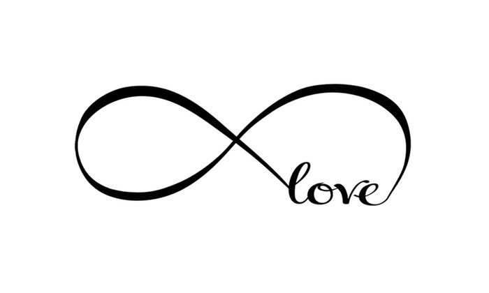 Up To 92 Off On Infinity Symbol Word Love Vin Groupon Goods