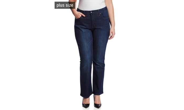 4524121b2af Melissa Mccarthy Seven7 Gordon Wash Slim Boot Cut Jeans Groupon. Melissa  Mccarthy Plus Size ...