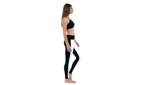 Electric Yoga Black White Contrast Tuxedo Active Legging 559a5c3c-916f-4678-b1ae-a664a7fab545