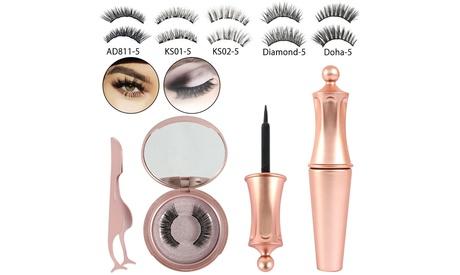Magnetic Eyeliner Kit with Magnetic Eyelashes and Liquid Eyeliner, Diamond-5