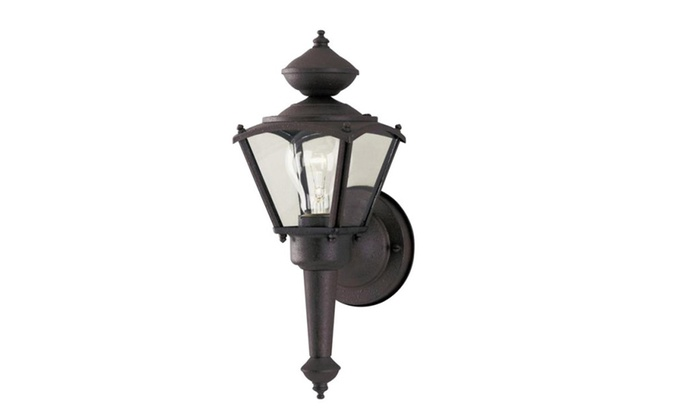 Westinghouse 64687 1-Light Outdoor Wall Lantern, Rust Patina Finish