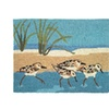Oceanside Sandpipers 22-Inch by 34-Inch Indoor Rug