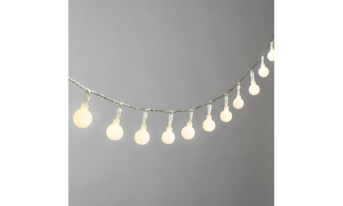 17 ft battery operated mini globe christmas string lights