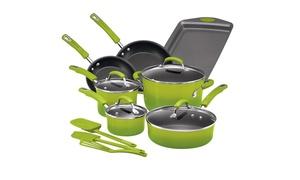 Rachael Ray Hard Enamel Nonstick Cookware Set (14-Piece)