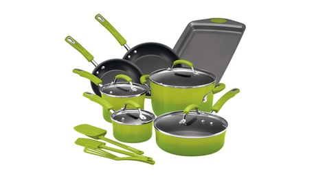 Rachael Ray Hard Enamel Nonstick 14pc Cookware Set 44fdbf7b-2a37-4347-b0cd-ad7b17cf7c96