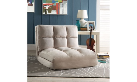 Loungie Microsuede Flip Chair foam w/ steel frame (Multiple Colors Available)