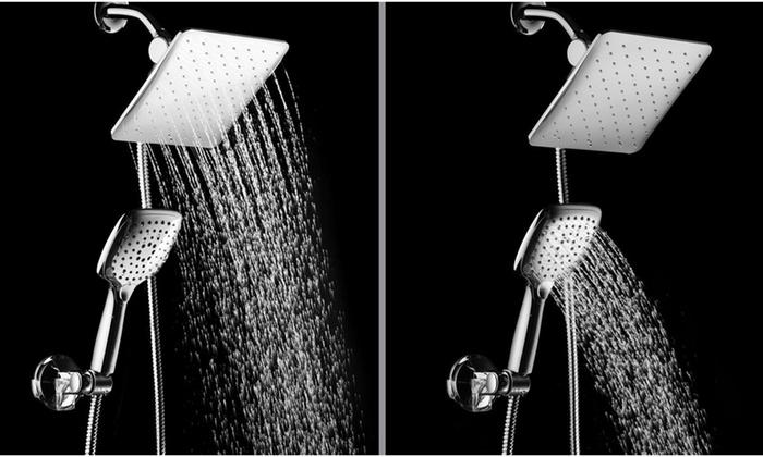 Combo Hotelspa 10 5 Square Rain Shower Head And Handheld