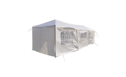 8 Sides Two Doors Two Bedrooms Waterproof Foldable Tent White