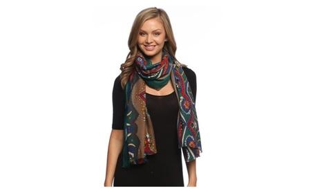 Peach Couture Vintage Tribal Pattern Scarf Shawl Wrap 2716a0b1-825d-436a-928a-fecb8e215e7f