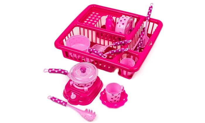 14pcs Pretend Play Kitchen Set Fun Cooking Toy Set For