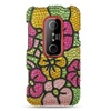 Insten Flowers Hard Diamante Case For HTC EVO 3D Colorful