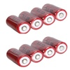 8 X GTL 3.7V 16340 CR123A 2300mAh Red Li-ion Rechargeable Battery