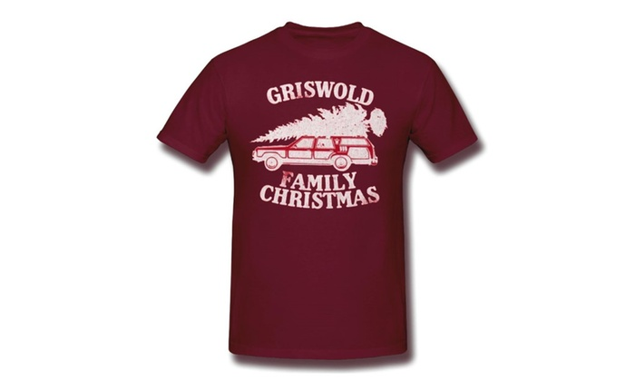 christmas vacation griswold family christmas adult t shirt burgundy