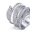 CZ Full Paved Cocktail Rings for Womens Fashion jewellery
