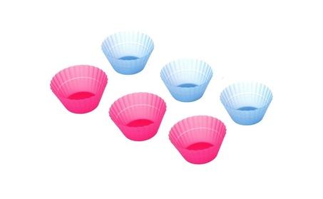 Silicone Muffin Cupcake Baking Cups Set of 6 3944e9b4-e0d1-41ea-9b1a-230106793f5a