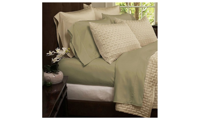 ... Bamboo 1800 Egyptian Comfort Soft Solid Luxury Sheets Set   6 Colors ...