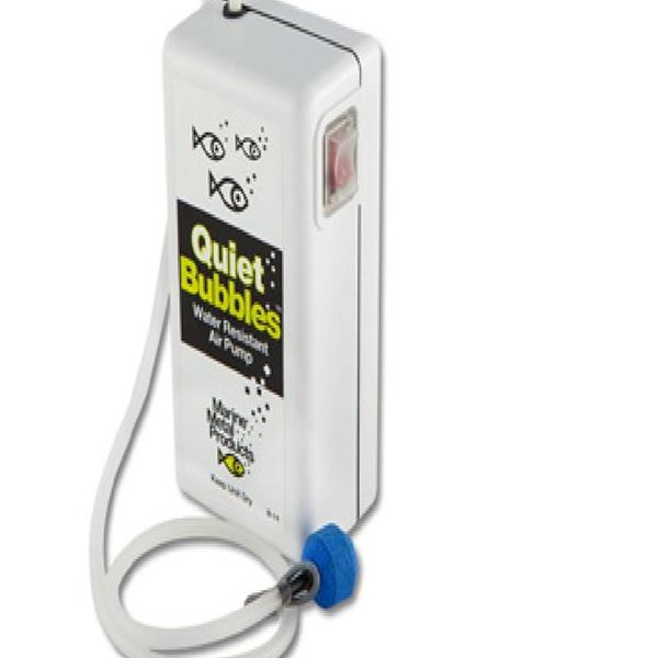 Marine Metal Aerator Quiet Bub 1.5V 33 Hrs W//2 D Battery
