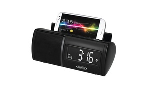 Universal Bluetooth Clock Radio with Charging for All Smartphones