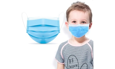 3-PLY Non-Medical Kids Children Sized Face Masks (Multi-Pack Options Available)