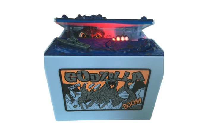 1Clam.com: Godzilla Hand Coin Grab Electronic Piggy Bank