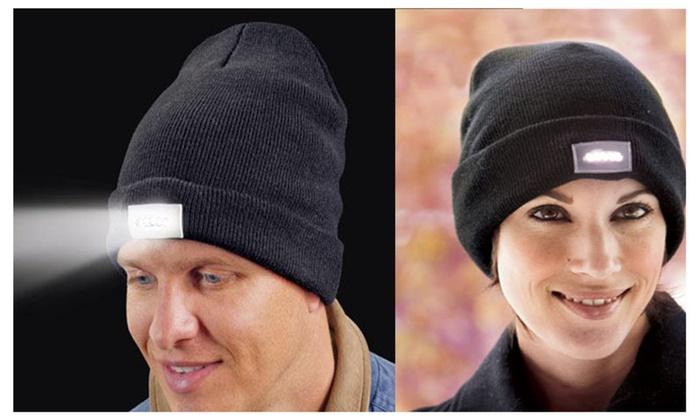 Pro Lighting Unisex Warm Knitted LED Flashlight Beanie Cap