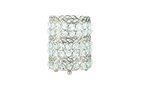 Sparkling Gems and Iron Candle Holder Centerpiece 2 sizes b67a4483-5b23-4ebf-b136-e53926797ae0