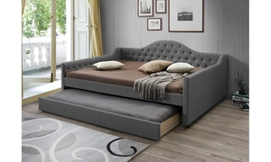 Perry Fabric Daybed with Twin-Size Trundle