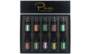 Pure Daily Care Therapeutic-Grade Pure Essential Oil Set (10-Piece)