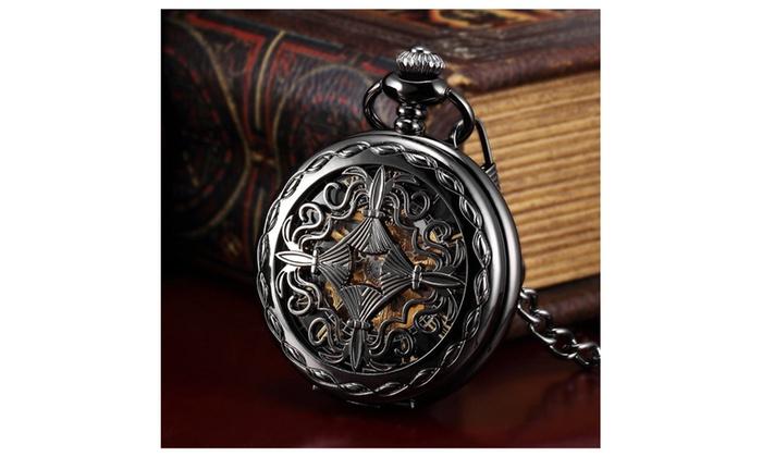 decb0d437 Steampunk Mechanical Hand-Wind Pocket Watch | Groupon