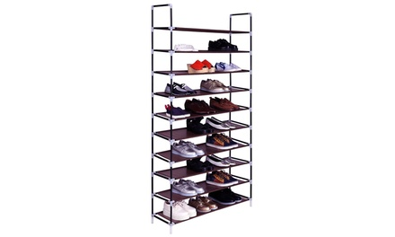 10 Layers Shoe Rack Space Saving Shoe Tower Cabinet Storage Organizer