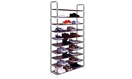 10 Layers Shoe Rack Space Saving Shoe Tower Cabinet Storage Organizer