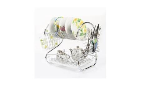 New Kitchen Storage Dish Cup 2 Tier Dryer Drying Rack Holder Organizer b720bceb-dbd1-4612-88e5-2da7c035c31b