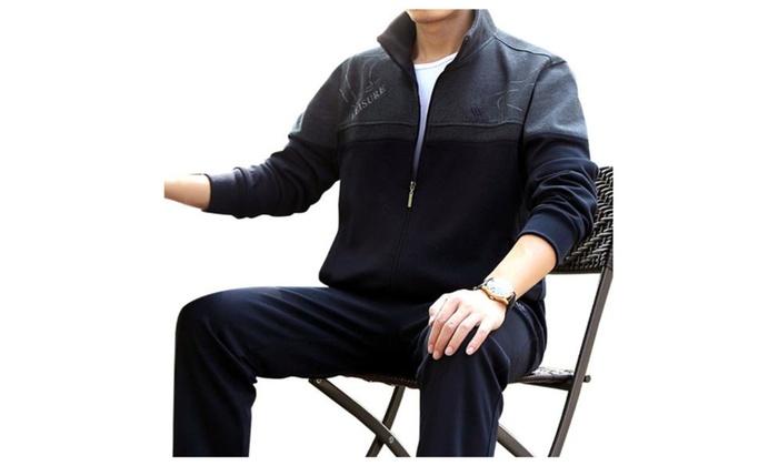 Men's Pullover Straight Long Simple Regular Fit Tracksuit