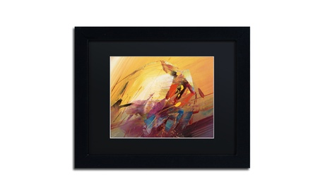 Ricardo Tapia 'A New Day' Matted Black Framed Art 0040e769-62d9-42bc-b399-d0031e290fe2